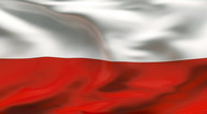 Stock Video Footage of Creased POLAND flag in wind - slow motion