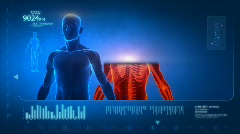 Scan of human body - stock footage
