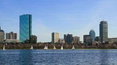 Boston skyline timelapse - stock footage