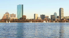 Boston skyline timelapse Stock Footage