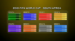 FIFA_World_Cup_2010_Rounds04_GoldenYellow Stock Footage