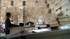 Western Wall in Jerusalem + Bible Stock Footage