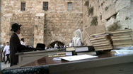 Stock Video Footage of Western Wall in Jerusalem + Bible