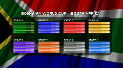 FIFA World Cup 2010 Rounds 06 Stock Footage