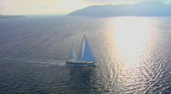 Stock Video Footage of A beautiful aerial shot of a magnificent sailing