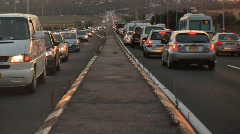 Traffic jam time lapse 2D and 3D stereoscopic Stock Footage