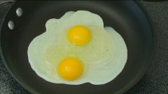 Frying Eggs Time Lapse Stock Footage