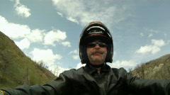 Motorcycle ride driver helmet up HD GP 0013 Stock Footage