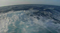 A view of the wake of a boat. Stock Footage
