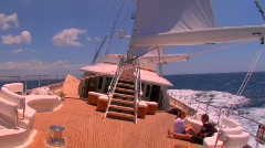 A sailboat on the high seas. Stock Footage