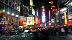 Times Square Time Lapse 3 Stock Footage