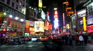 Stock Video Footage of Times Square Time Lapse 3