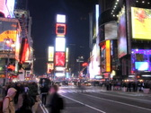 Times Square Time Lapse 4 Stock Footage