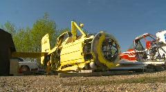 Aircraft, Airtractor parts, aircraft boneyard Stock Footage