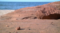 Rocks on beach - stock footage