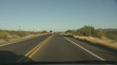 AZ Border Patrol Series - 6 - checkpoint approach and turn off southbound Stock Footage