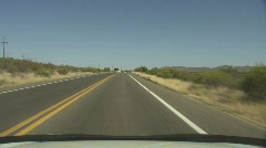 AZ Border Patrol - 3 - driving past checkpoint southbound Stock Footage