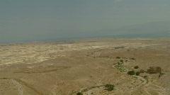 Masada aerial tramway view 1 Stock Footage