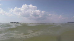 In The Waters Off Fort DeSoto Beach - stock footage