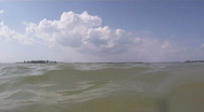 In The Waters Off Fort DeSoto Beach Stock Footage