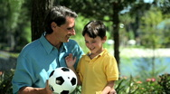 Father & Son Time Stock Footage