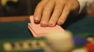 Stock Video Footage of Shuffling playing cards - 8 - playing the deck and pulling cards