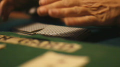 Shuffling playing cards - 2 - ruffle and slide mix Stock Footage