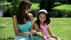 Family Quiet Time Stock Footage