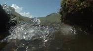 Ocean Waves Break & Slash Against Rocks On The Beach Stock Footage