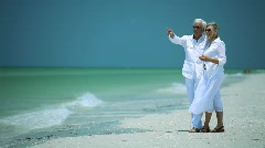 Seniors Beach Lifestyle Stock Footage