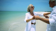 Dancing on the Beach Stock Footage
