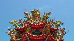 Asian Tao Temple (detail) Stock Footage