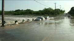 White car flood zoomin Stock Footage