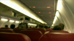 Airplane Cabin   Full HD 1080p Stock Footage