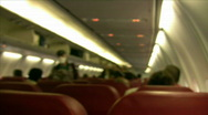 Stock Video Footage of Airplane Cabin   Full HD 1080p