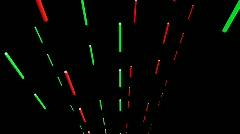 T188 1980s laser element laserfight bombardment Stock Footage