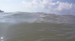 Close Up Of Ocean Waves Near Fort DeSoto Beach - stock footage