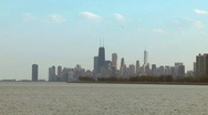 Stock Video Footage of Chicago Skyline on a Sunny Day