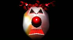 T188 evil clown scar demonic horror bmovie Stock Footage