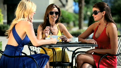Friends Enjoying Leisure Time Stock Footage