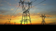 Energy transmission lines. - stock footage