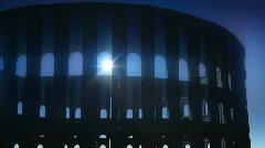 T188 moonlight coliseum rome roman magical mystery mysterious moonbeams Stock Footage