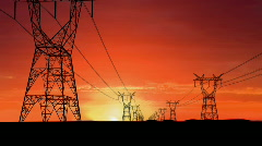 Energy transmission - stock footage