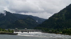 Bonneville Dam on the Columbia River Time Lapse Stock Footage