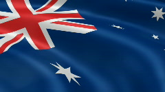 Australia FlagInTheWind Stock Footage