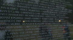 The Vietnam Veterans Memorial in Washington DC Stock Footage