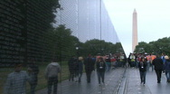 Stock Video Footage of The Vietnam Veterans Memorial in Washington DC