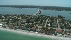 Aerial Treasure Island Bridge Stock Footage
