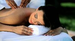 Luxury Massage Treatment Stock Footage