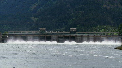 Bonneville Dam on the Columbia River Stock Footage